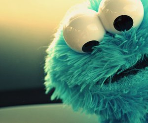 blue, cookie monster, and cookie image