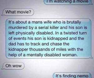 funny, finding nemo, and text image