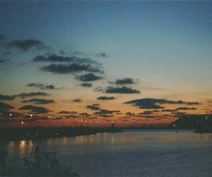 landscape, night, and sun image