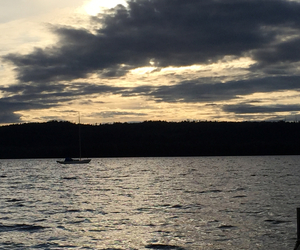beautiful, sunset, and boat image