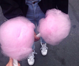cotton candy, food porn, and pink image