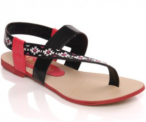 sandals, thong sandals, and flat sandals image