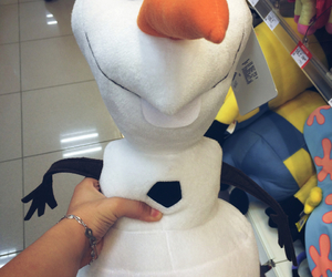 frozen, mall, and olaf image