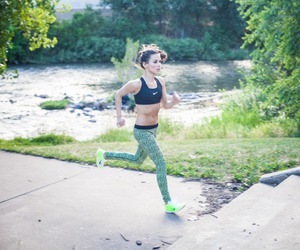 running, fit, and fitness image