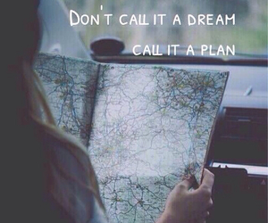 map, Dream, and travel image