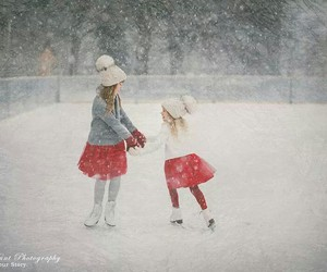 snow, winter, and children image