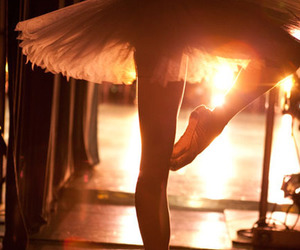 ballerina, sunset, and ballet image