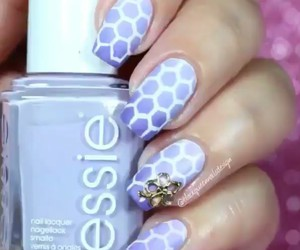 blue, gradient, and nail art image