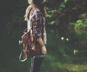 girl, hipster, and nature image