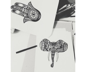 elephant and drawing image