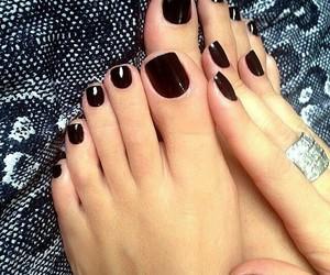 black, jewelry, and nail art image