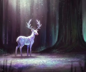 light, book, and deer image