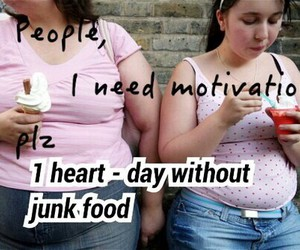 motivation, fat, and junk food image