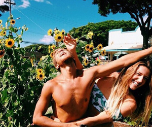 couple, summer, and indie image