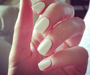 white and nails image