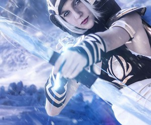ashe, champ, and cosplay image