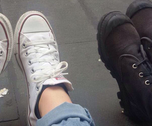 black, converse, and friendship image