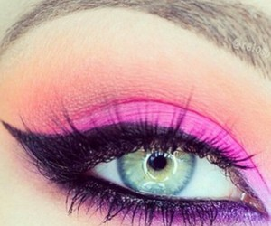 eye, eyeliner, and make up image