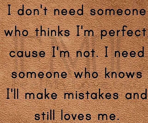 mistakes, perfect, and love image