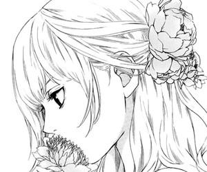 manga, girl, and flowers image