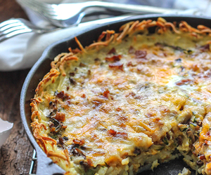 food, hash, and quiche image