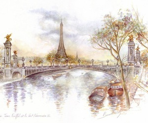 art, colors, and eiffel image