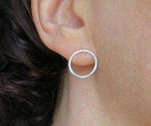 minimalist earrings, small studs, and everyday earrings image