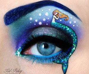 mermaid, makeup, and eye image