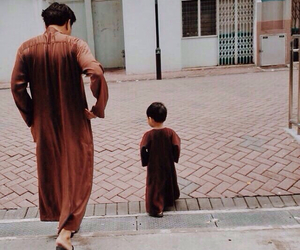 child, little boy, and mosque image