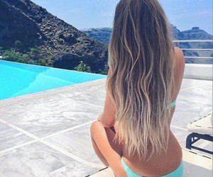 girls, summer, and hair image