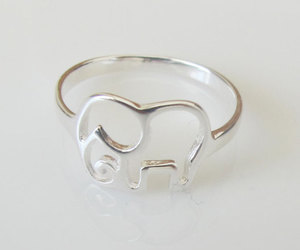 ring, elephant, and silver image