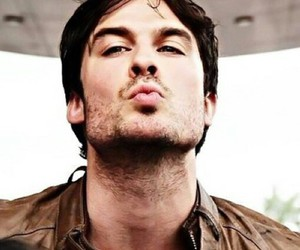 ian somerhalder, kiss, and damon salvatore image