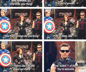 funny, hawkeye, and Avengers image