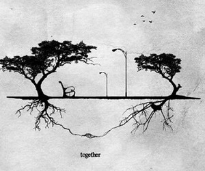 together, love, and tree image