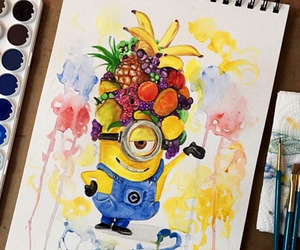 colorful, smile, and watercolor image