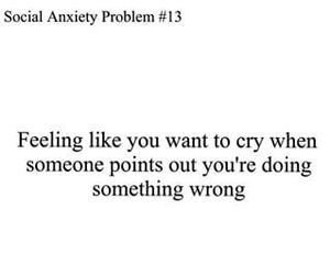 anxiety, cry, and crying image