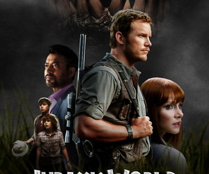 bryce dallas howard, chris pratt, and jurassic world image