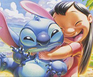 hug, lilo & stitch, and smile image