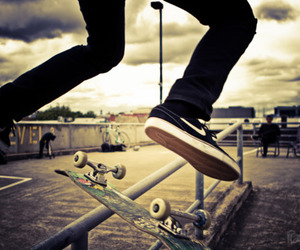 beautiful, skate, and skateboarding image