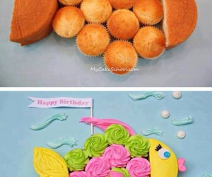 fish, cake, and cupcake image