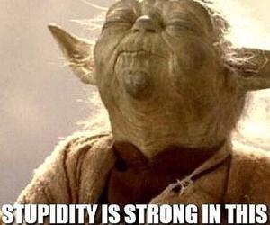 funny, star wars, and yoda image