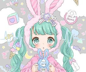 anime, hatsune miku, and kawaii image