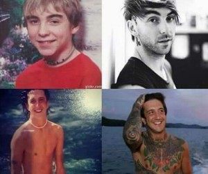 alex gaskarth, all time low, and ronnie radke image