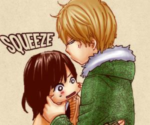 anime couple, anime girl, and anime boy image