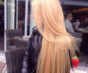 hair, blonde, and long hair image