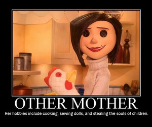 coraline, scare, and the other mother image
