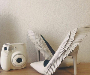 white, wings, and shoes image