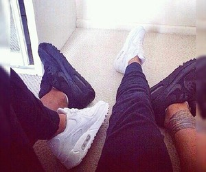 couple, nike, and love image