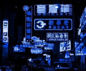 blue, neon, and light image
