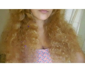 blonde, curly, and hair image